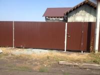 Установлен забор пос. Красный Яр