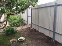 Установлен забор из профнастила RAL3005 на дачном массиве: Сокские зори