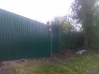 Установлен забор в Старо-Семейкино