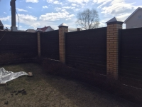 Забор из профлиста в п. Горелый Хутор
