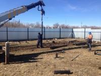 Забор из профнастила для стройплощадки