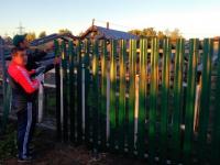 установлен забор под ключ в п. Зубчаниновка.
