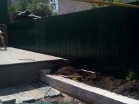 Установлен забор из профнастила RAL6005 по ул. Нагорная