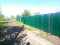Установлен забор в СНТ Линьки, 11 линия