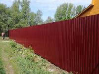 Установлен забор из профнастила на дачном массиве: Черновские дачи