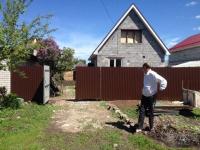 Установлен забор на ул. Сокская