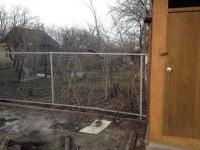 Забор под ключ из сетки рабицы установлен на 19км - 15 улица