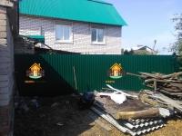 становлен забор по адресу Средне-Садовая х Нагорная