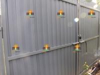 Забор под ключ из профлиста RAL8017 (Водненский дачный массив) - 34 метра + ворота + калитка