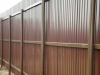 Забор из профлиста на трубах НКТ