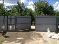 Установлен забор, усиленные ворота и калитка на 19 км г. Самары.