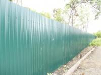 Забор под ключ из профлиста (Зеленый мох) 21 метр, высота 2 метра + ворота 4 метра + калитка 1 метр. г. Самара, ДП Газовик