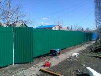 Забор под ключ из профлиста СС10 0,5мм RAL6005 установлен на Новокуйбышевское шоссе (Кряж).