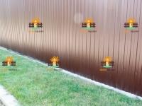 Забор из профлиста RAL 8017 с частичным ленточным фундаментом (Шигоны) -130 метров