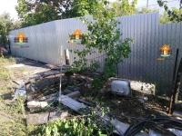 Установлен забор из профлиста в СТД Большие Сорокины Хутора
