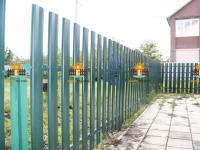 Забор из металлического штакетника RAL6005 под ключ, высота 1 метра, длина 30 метров + калитки 2 штуки (Рубежная Глинка)