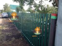 Установлен забор из штакетника RAL6005 (с. Лопатино)