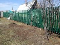 Установлен забор из штакетника 59 метров