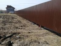 Забор из профнастила 111 метров п. Воскресенка