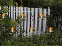 Забор из металлического штакетника белого цвета под ключ (Малая Царевщина) - 30 метров.
