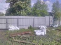 Установлен забор СНТ Зеленная Роща