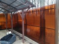 Забор под ключ из поликарбоната NOVATTRO 8мм установлен в Студёный овраг.
