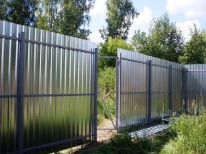забор из профлиста 2.5 метра