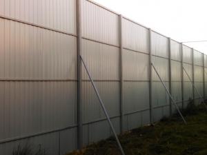 Забор из профлиста 3 метра