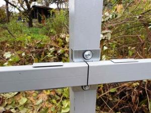 Забор из профнастила без сварки