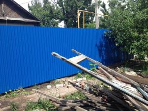 Забор из профнастила без предоплаты