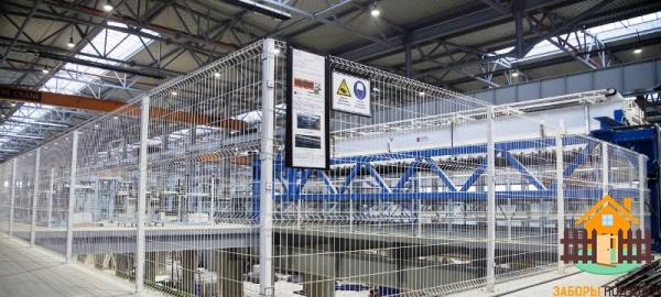 Забор 3Д для предприятия